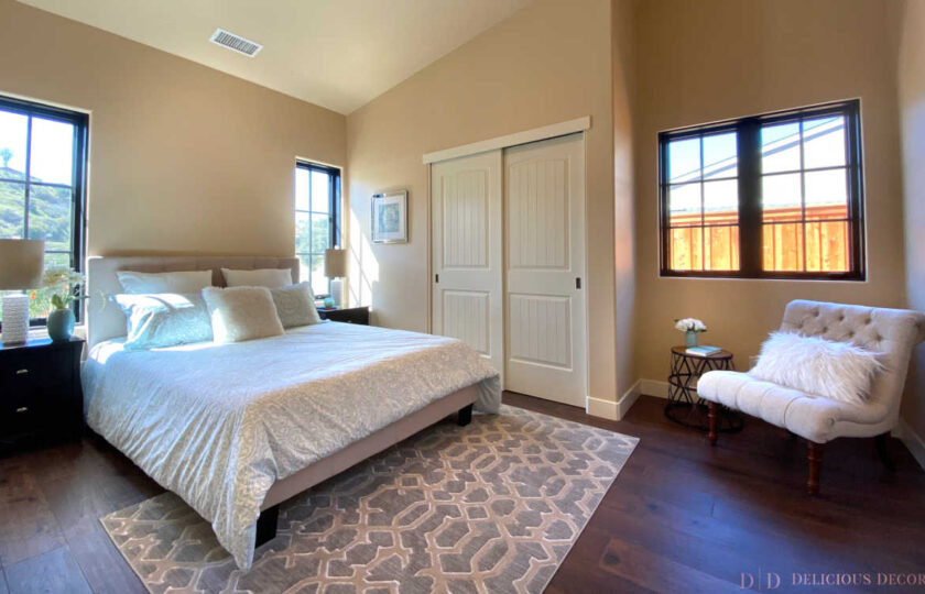 Traditional home staging design of guest bedroom in Ventura 4 bed, 3 bath family home