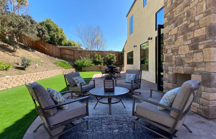 Traditional home staging design of back patio in Ventura 4 bed, 3 bath family home